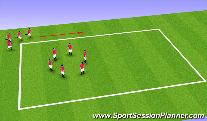 Football/Soccer Session Plan Drill (Colour): Low intensity jog and static stretch