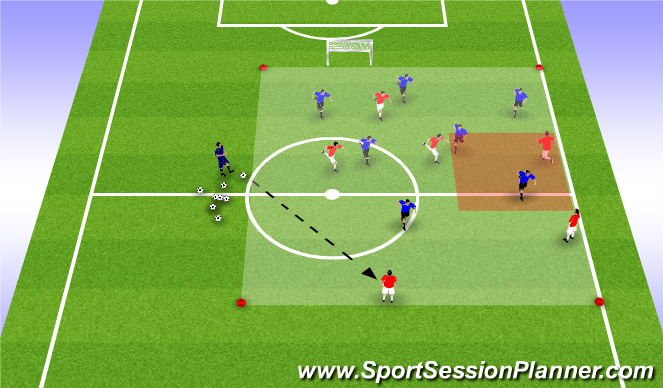 Football/Soccer Session Plan Drill (Colour): Functional Organized press