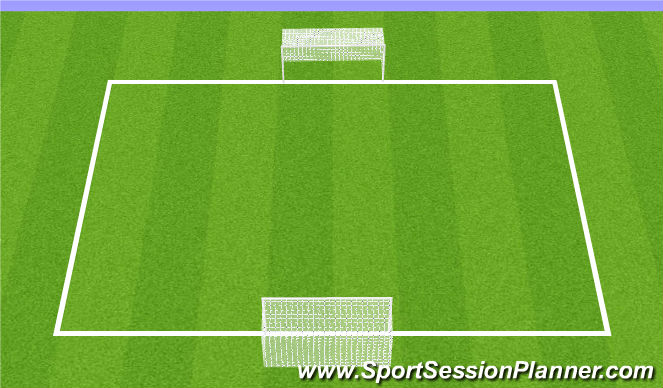 Football/Soccer Session Plan Drill (Colour): Reg. Scrimmage