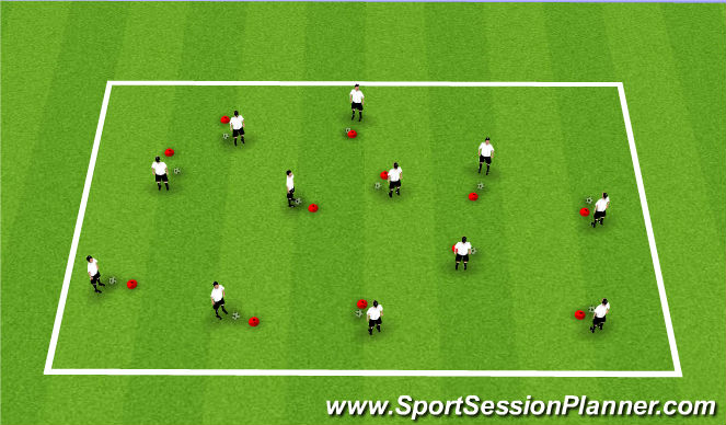 Football/Soccer Session Plan Drill (Colour): Ball Mastery 4