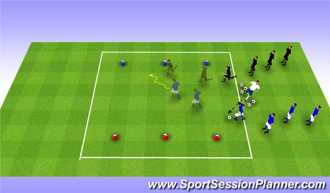 Football/Soccer Session Plan Drill (Colour): Concluding Game