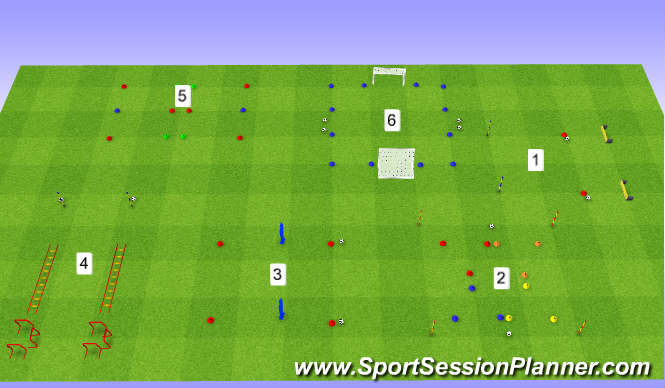 Football/Soccer Session Plan Drill (Colour): Functional Strength & Fitness