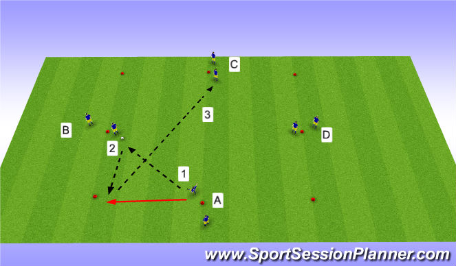 Football/Soccer Session Plan Drill (Colour): Tech Warm-Up Progression