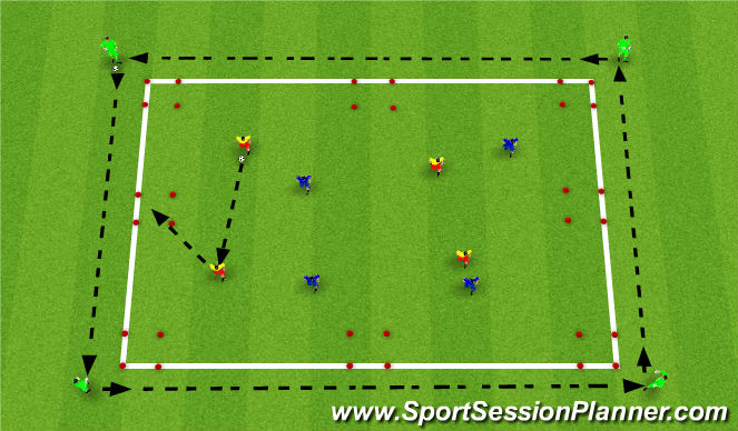 Football/Soccer Session Plan Drill (Colour): Skill Training 1st Touch