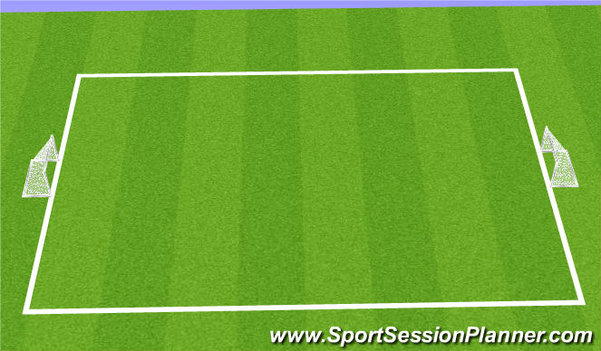 Football/Soccer Session Plan Drill (Colour): Skill Game - 1st Touch