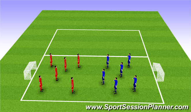 Football/Soccer Session Plan Drill (Colour): 3 Touch Game