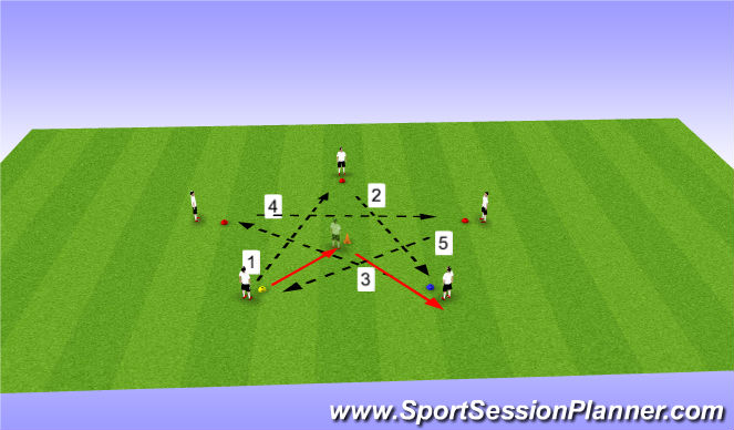 Football/Soccer Session Plan Drill (Colour): Barcelona Star