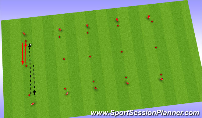 Football/Soccer Session Plan Drill (Colour): Pass Lanes Technique