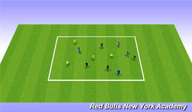 Football/Soccer Session Plan Drill (Colour): Warm up: Hand ball in groups