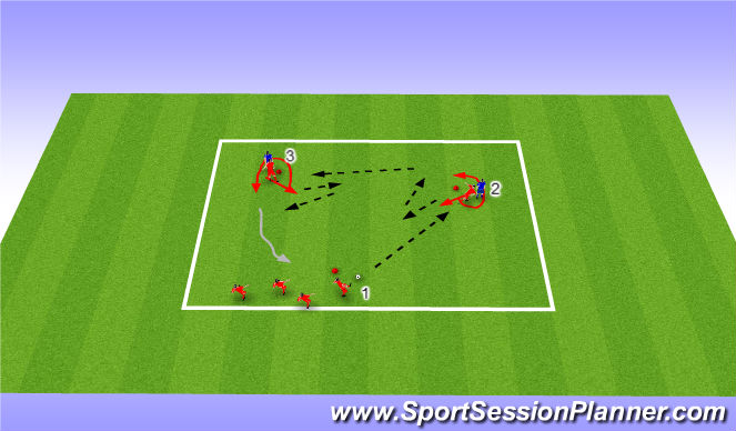 Football/Soccer Session Plan Drill (Colour): Warm up - combination