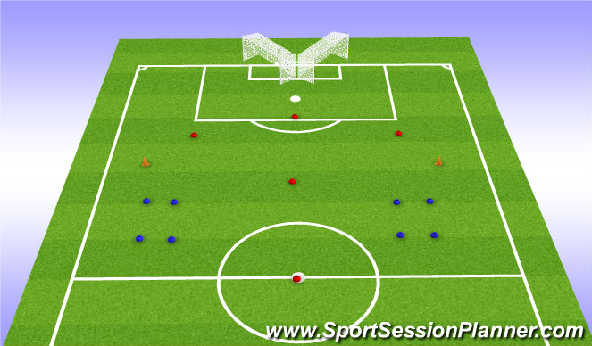 Football/Soccer Session Plan Drill (Colour): Function - Set Up