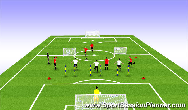 Football/Soccer Session Plan Drill (Colour): SSG- Expanded