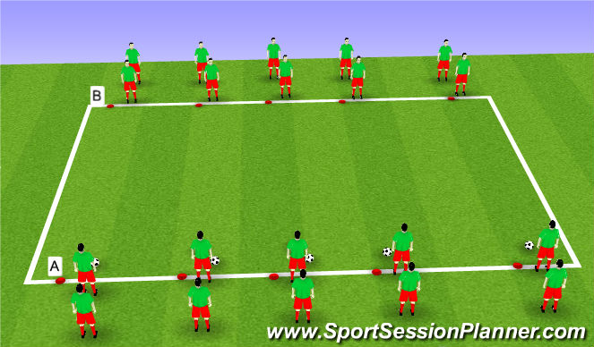 Football/Soccer Session Plan Drill (Colour): Step 1: Sprint/Fast Feet