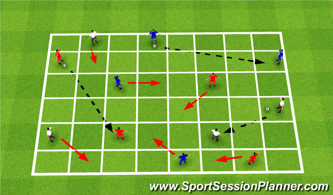 Football/Soccer Session Plan Drill (Colour): Drill - Skill