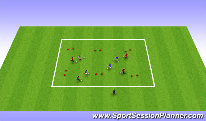 Football/Soccer Session Plan Drill (Colour): Pine Glen Week 9 ODP U6-U8