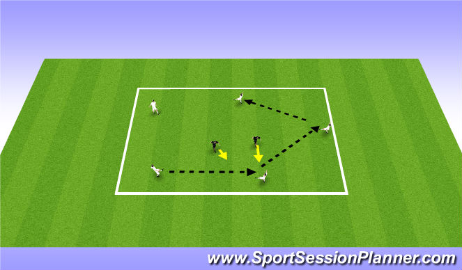 Football/Soccer Session Plan Drill (Colour): 5 v 2