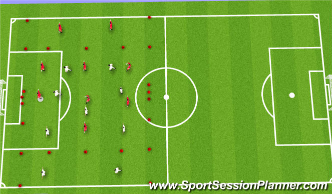 Football/Soccer Session Plan Drill (Colour): Tactical Introduction to Topic