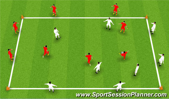 Football/Soccer Session Plan Drill (Colour): Speed Passing Progression #1