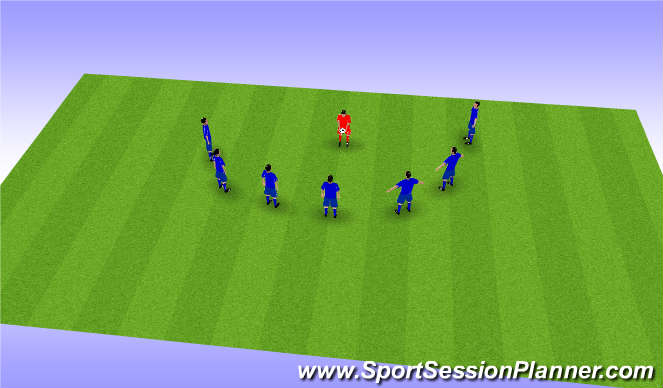 Football/Soccer Session Plan Drill (Colour): リアクションゲーム②