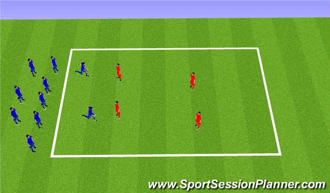 Football/Soccer Session Plan Drill (Colour): 鬼ごっこ