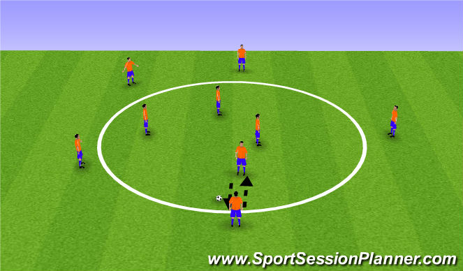 Football/Soccer Session Plan Drill (Colour): Circle Passing