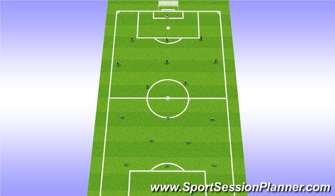 Football/Soccer Session Plan Drill (Colour): 9v9 game