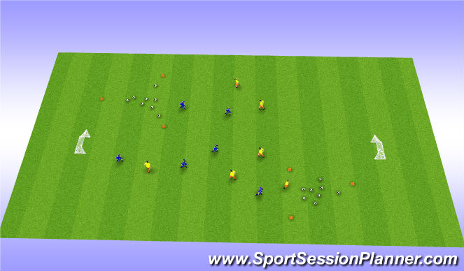 Football/Soccer Session Plan Drill (Colour): Random/ Game