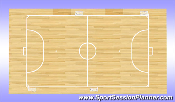 Futsal Session Plan Drill (Colour): Mixed Targets