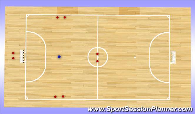 Futsal Session Plan Drill (Colour): Cloverleaf