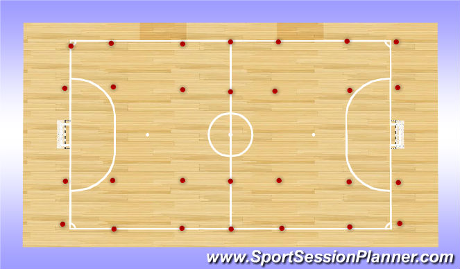 Futsal Session Plan Drill (Colour): Homerun