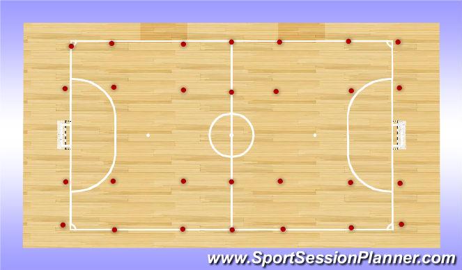 Futsal Session Plan Drill (Colour): Homerun