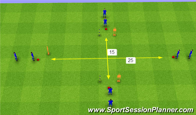 Football/Soccer Session Plan Drill (Colour): Main Session Set Up