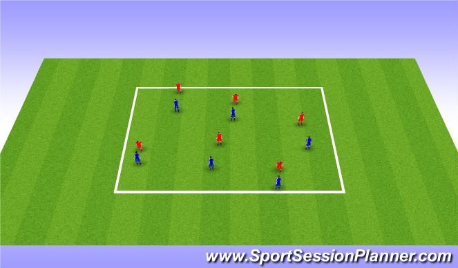 Football/Soccer Session Plan Drill (Colour): Technical/Blocked