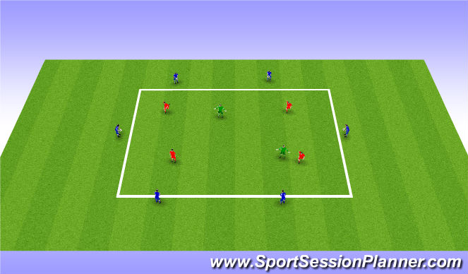 Football/Soccer Session Plan Drill (Colour): Variable Skills Pratice