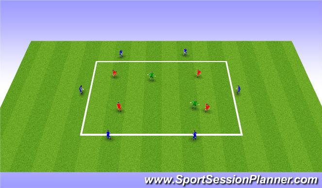 Football/Soccer Session Plan Drill (Colour): Variable Skills Pratice