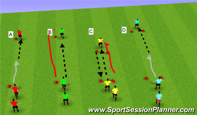 Football/Soccer Session Plan Drill (Colour): Technical Passing