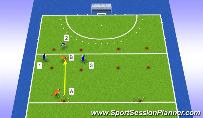 Hockey Session Plan Drill (Colour): escape!