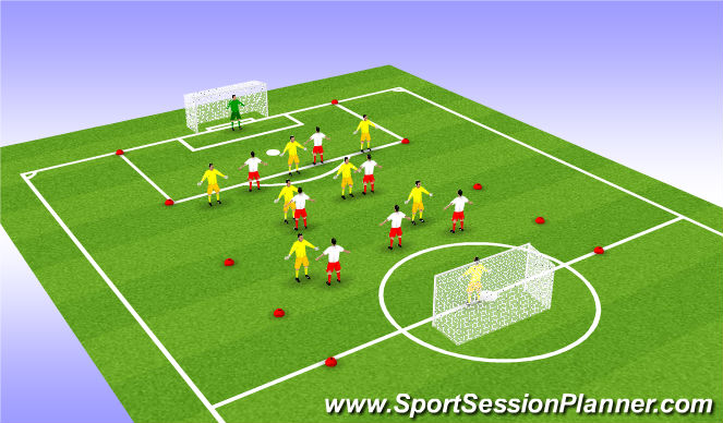 Football/Soccer Session Plan Drill (Colour): SSG: Throw, Head, Catch