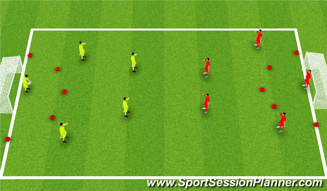 Football/Soccer Session Plan Drill (Colour): SSG - Futsal