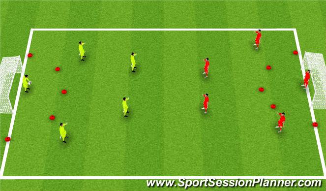 Football/Soccer Session Plan Drill (Colour): SSG - Futsal