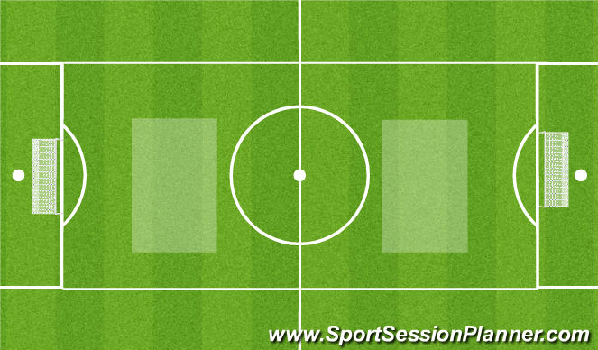 Football/Soccer Session Plan Drill (Colour): SSG..9 v8 or smaller