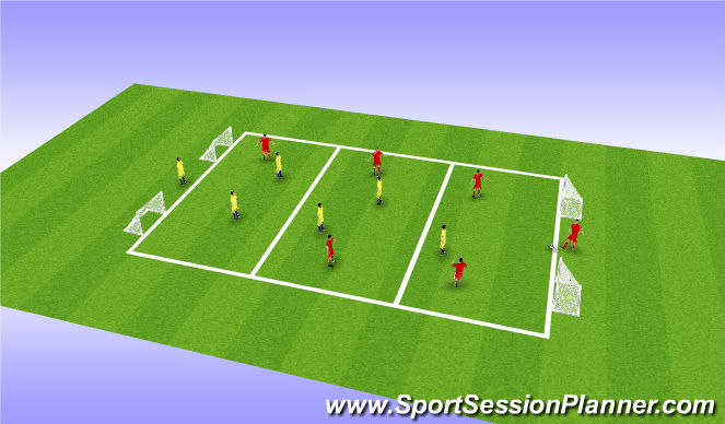 Football/Soccer Session Plan Drill (Colour): 1st Touch Skill Training