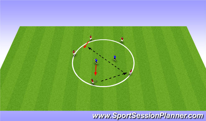 Football/Soccer Session Plan Drill (Colour): Pre-Session - Rondo