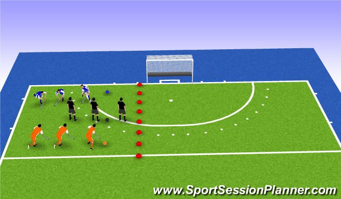 Hockey Session Plan Drill (Colour): kleurenspel (try out)