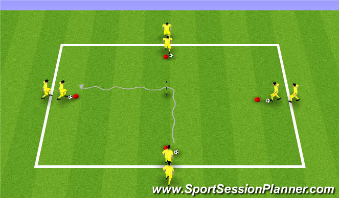 Football/Soccer Session Plan Drill (Colour): Warm up : Cogi Training