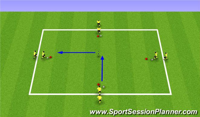 Football/Soccer Session Plan Drill (Colour): Cogi Training