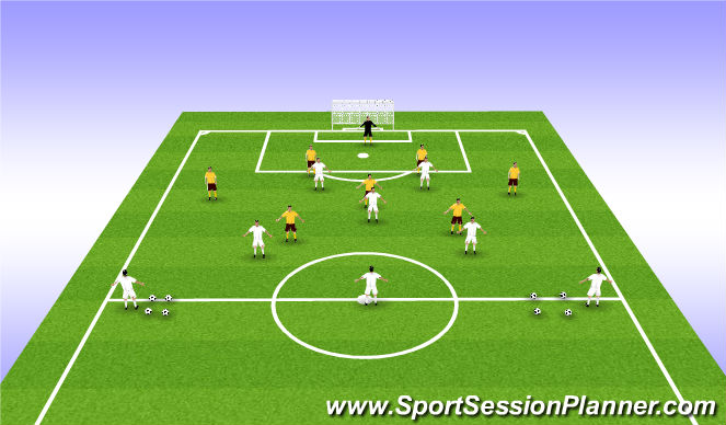 Football/Soccer Session Plan Drill (Colour): Final 3rd play