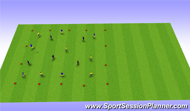 Football/Soccer Session Plan Drill (Colour): 5v5v5 Transition