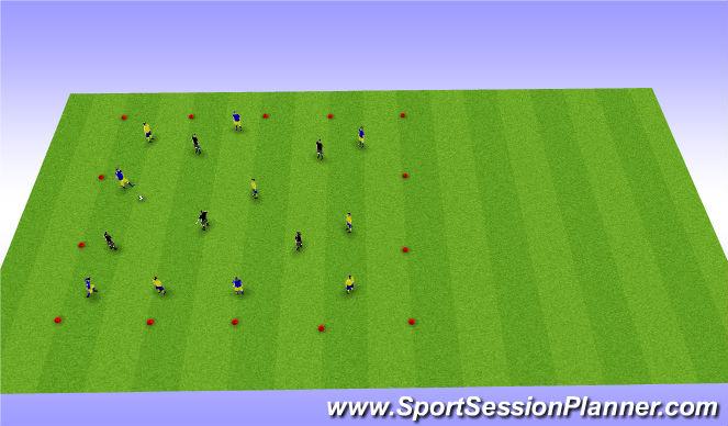 Football/Soccer Session Plan Drill (Colour): 5v5v5 Transition