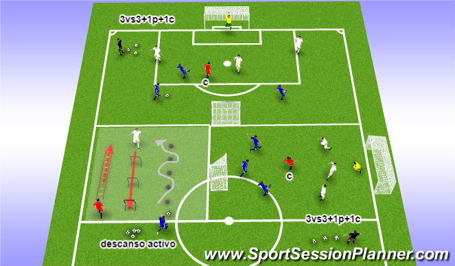 Football/Soccer Session Plan Drill (Colour): PR1